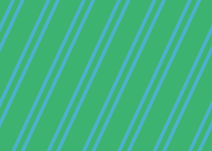 65 degree angle dual stripes lines, 12 pixel lines width, 16 and 65 pixel line spacing, Viking and Medium Sea Green dual two line striped seamless tileable