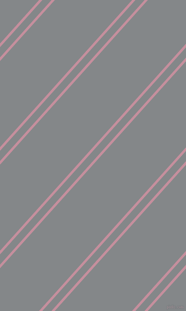 48 degree angles dual stripes lines, 5 pixel lines width, 14 and 118 pixels line spacing, Viola and Aluminium dual two line striped seamless tileable