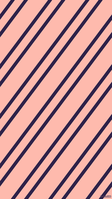 53 degree angles dual stripes lines, 11 pixel lines width, 24 and 53 pixels line spacing, Violent Violet and Melon dual two line striped seamless tileable