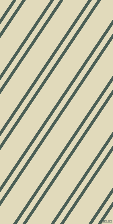 56 degree angles dual striped lines, 10 pixel lines width, 16 and 69 pixels line spacing, Viridian Green and Coconut Cream dual two line striped seamless tileable