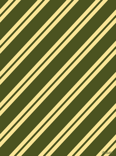 47 degree angles dual stripe line, 12 pixel line width, 6 and 40 pixels line spacing, Vis Vis and Army green dual two line striped seamless tileable