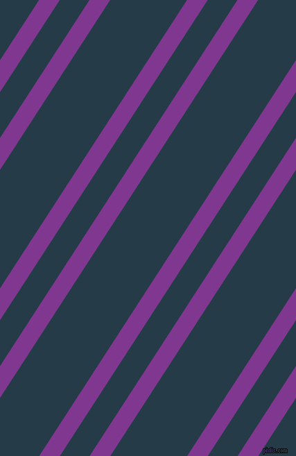 57 degree angle dual stripes line, 25 pixel line width, 36 and 93 pixel line spacing, Vivid Violet and Tarawera dual two line striped seamless tileable