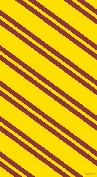 144 degree angle dual stripes lines, 15 pixel lines width, 10 and 54 pixel line spacing, Well Read and Golden Yellow dual two line striped seamless tileable