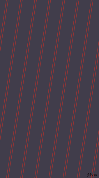 81 degree angles dual stripes line, 2 pixel line width, 4 and 40 pixels line spacing, Well Read and Grape dual two line striped seamless tileable