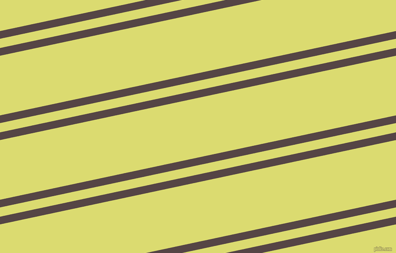 12 degree angles dual stripes lines, 15 pixel lines width, 18 and 116 pixels line spacing, Woody Brown and Goldenrod dual two line striped seamless tileable