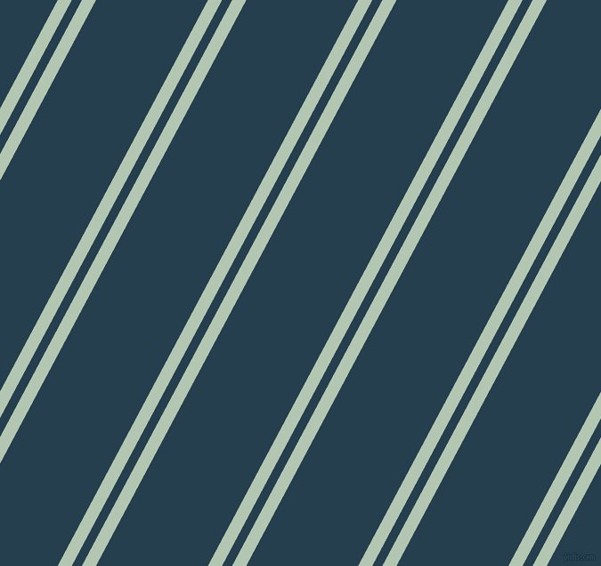 62 degree angle dual striped line, 14 pixel line width, 10 and 111 pixel line spacing, Zanah and Nile Blue dual two line striped seamless tileable