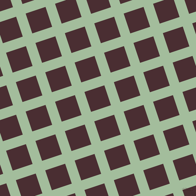 18/108 degree angle diagonal checkered chequered lines, 33 pixel line width, 69 pixel square size, plaid checkered seamless tileable