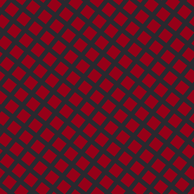 51/141 degree angle diagonal checkered chequered lines, 16 pixel lines width, 37 pixel square size, plaid checkered seamless tileable
