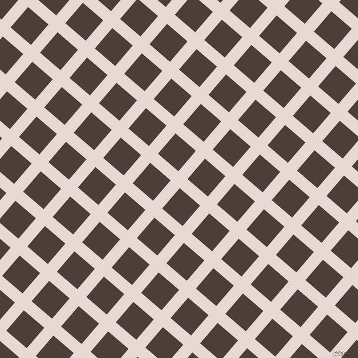 49/139 degree angle diagonal checkered chequered lines, 24 pixel lines width, 54 pixel square size, plaid checkered seamless tileable