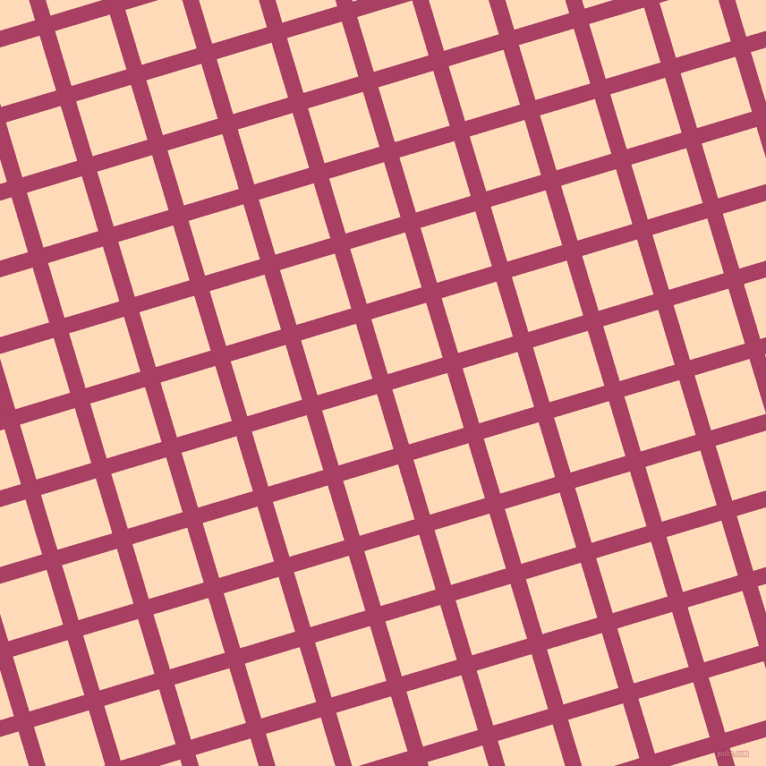 17/107 degree angle diagonal checkered chequered lines, 18 pixel lines width, 64 pixel square size, plaid checkered seamless tileable