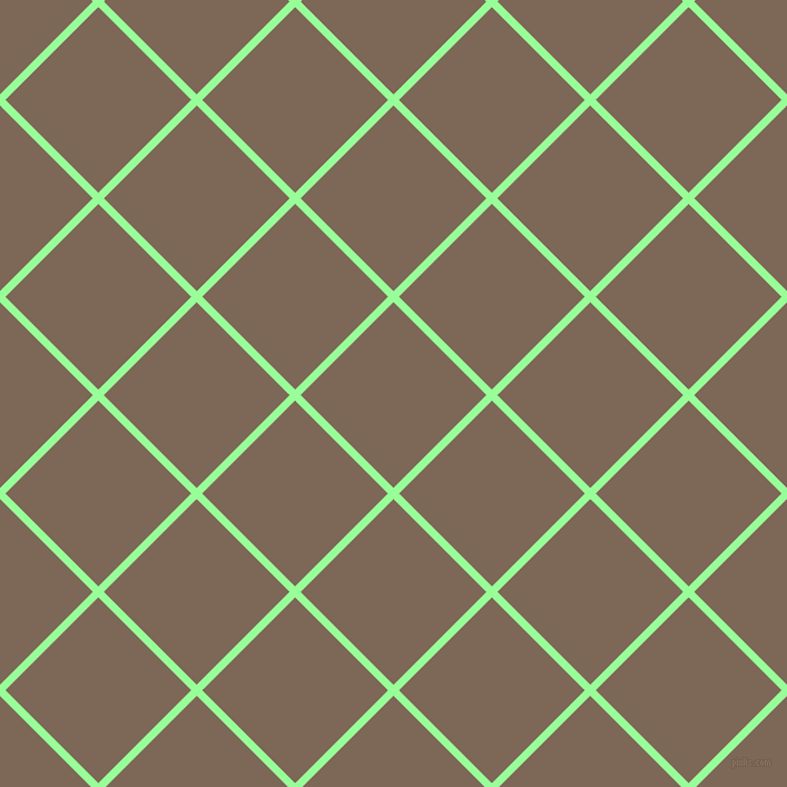 45/135 degree angle diagonal checkered chequered lines, 7 pixel line width, 118 pixel square size, plaid checkered seamless tileable