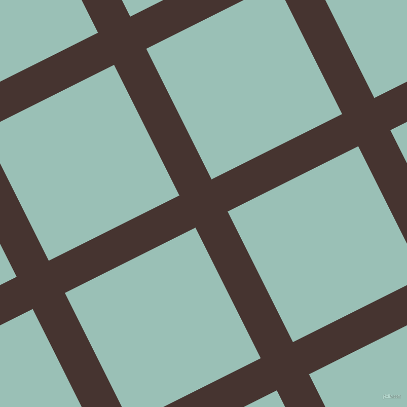 27/117 degree angle diagonal checkered chequered lines, 71 pixel line width, 288 pixel square size, plaid checkered seamless tileable