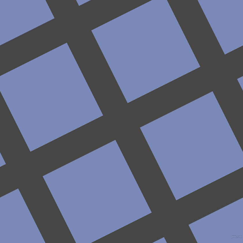 27/117 degree angle diagonal checkered chequered lines, 95 pixel lines width, 282 pixel square size, plaid checkered seamless tileable