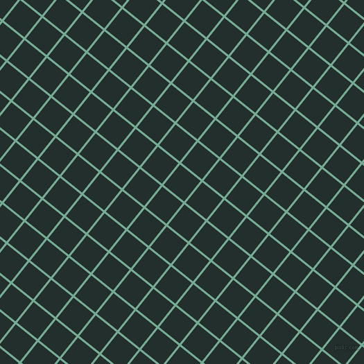 51/141 degree angle diagonal checkered chequered lines, 3 pixel lines width, 38 pixel square size, Acapulco and Racing Green plaid checkered seamless tileable