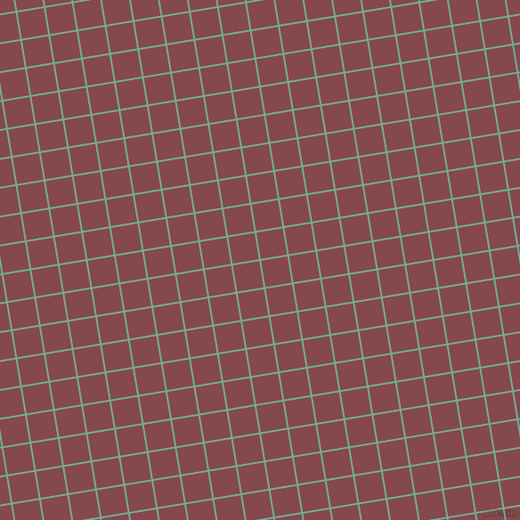 9/99 degree angle diagonal checkered chequered lines, 2 pixel line width, 30 pixel square size, Acapulco and Solid Pink plaid checkered seamless tileable