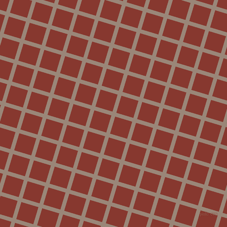 73/163 degree angle diagonal checkered chequered lines, 8 pixel lines width, 36 pixel square size, Almond Frost and Crab Apple plaid checkered seamless tileable