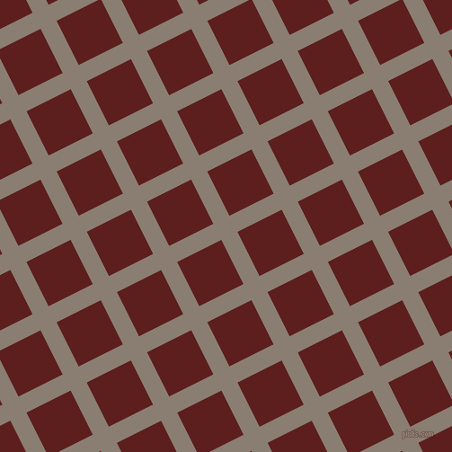27/117 degree angle diagonal checkered chequered lines, 20 pixel lines width, 55 pixel square size, Americano and Red Oxide plaid checkered seamless tileable