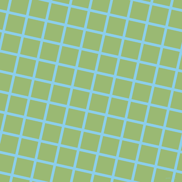 77/167 degree angle diagonal checkered chequered lines, 9 pixel lines width, 57 pixel square size, Anakiwa and Olivine plaid checkered seamless tileable