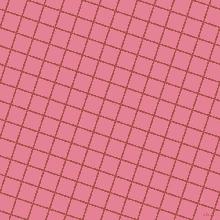 72/162 degree angle diagonal checkered chequered lines, 5 pixel lines width, 52 pixel square size, Apple Blossom and Carissma plaid checkered seamless tileable
