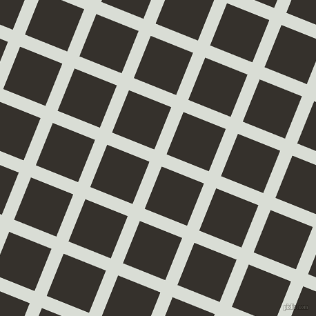 68/158 degree angle diagonal checkered chequered lines, 19 pixel line width, 66 pixel square size, Aqua Haze and Acadia plaid checkered seamless tileable