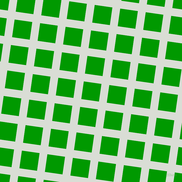 82/172 degree angle diagonal checkered chequered lines, 27 pixel line width, 61 pixel square size, Aqua Haze and Islamic Green plaid checkered seamless tileable