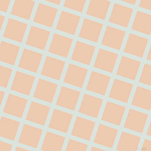72/162 degree angle diagonal checkered chequered lines, 15 pixel line width, 67 pixel square size, Aqua Squeeze and Desert Sand plaid checkered seamless tileable