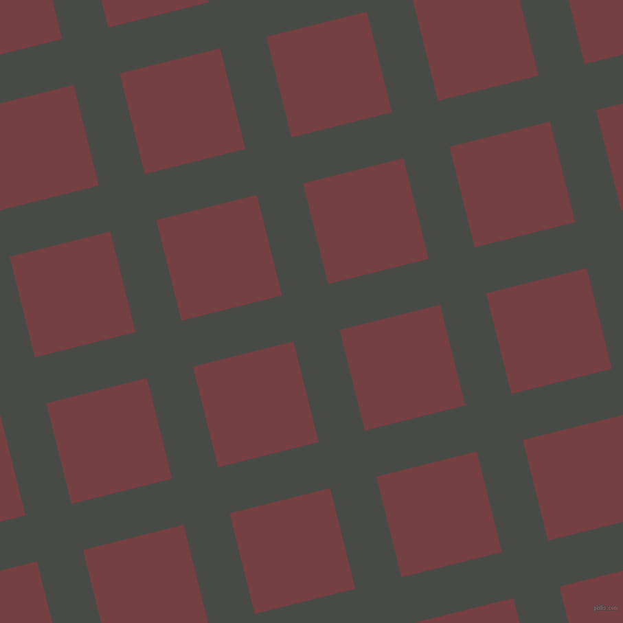14/104 degree angle diagonal checkered chequered lines, 69 pixel lines width, 151 pixel square size, Armadillo and Tosca plaid checkered seamless tileable