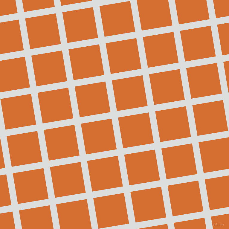 9/99 degree angle diagonal checkered chequered lines, 22 pixel line width, 104 pixel square size, Athens Grey and Tango plaid checkered seamless tileable
