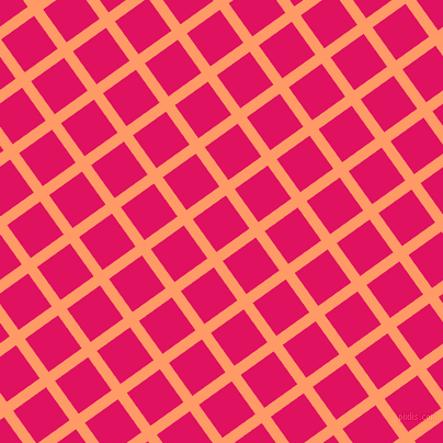 36/126 degree angle diagonal checkered chequered lines, 10 pixel line width, 37 pixel square size, Atomic Tangerine and Ruby plaid checkered seamless tileable