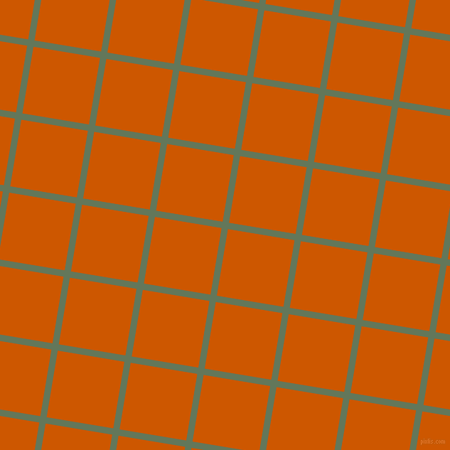 81/171 degree angle diagonal checkered chequered lines, 9 pixel line width, 95 pixel square size, Axolotl and Tenne Tawny plaid checkered seamless tileable