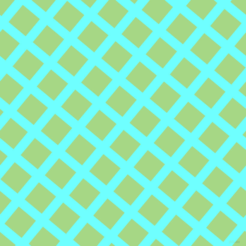 50/140 degree angle diagonal checkered chequered lines, 31 pixel line width, 74 pixel square size, Baby Blue and Feijoa plaid checkered seamless tileable