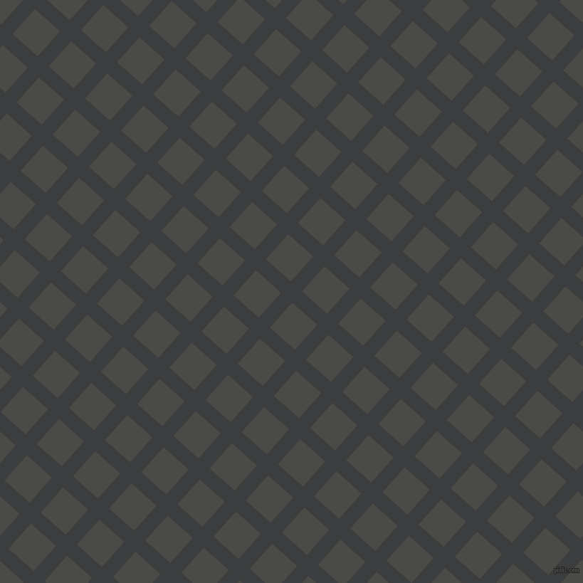 48/138 degree angle diagonal checkered chequered lines, 21 pixel line width, 47 pixel square size, Baltic Sea and Gravel plaid checkered seamless tileable