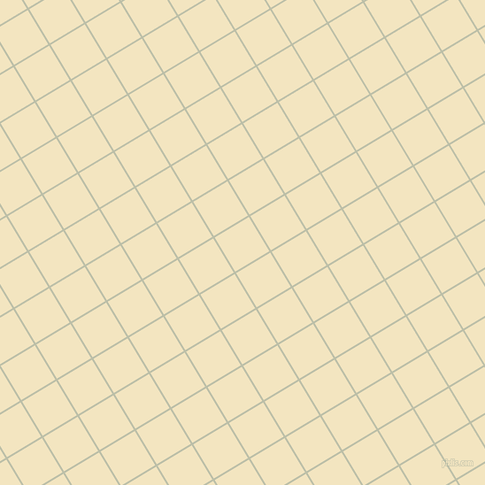 31/121 degree angle diagonal checkered chequered lines, 2 pixel line width, 45 pixel square size, Beryl Green and Milk Punch plaid checkered seamless tileable
