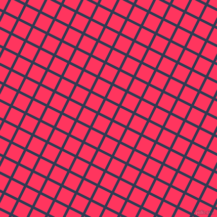 63/153 degree angle diagonal checkered chequered lines, 5 pixel line width, 27 pixel square size, Biscay and Radical Red plaid checkered seamless tileable