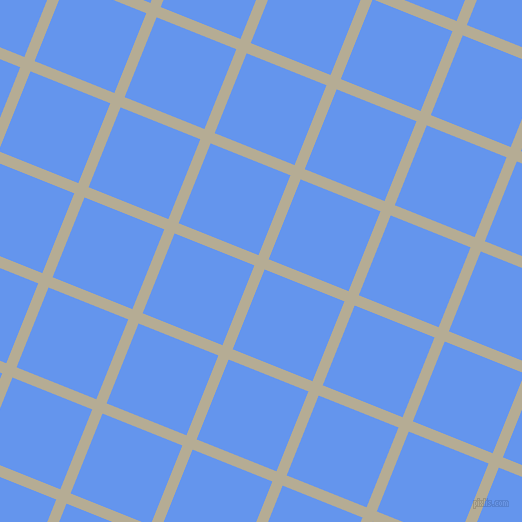 68/158 degree angle diagonal checkered chequered lines, 11 pixel line width, 86 pixel square size, Bison Hide and Cornflower Blue plaid checkered seamless tileable