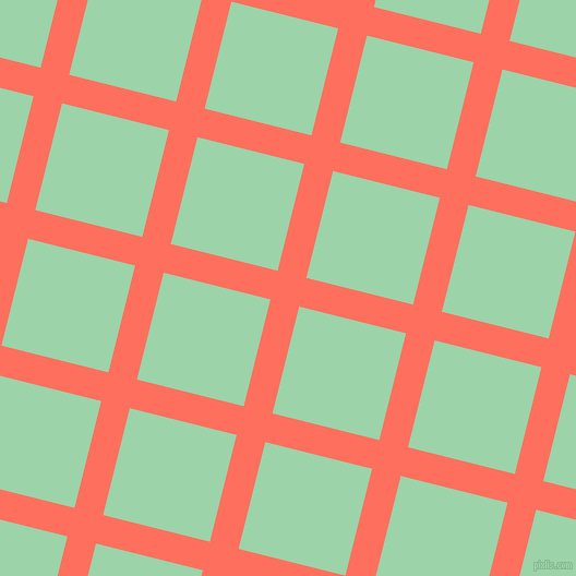 76/166 degree angle diagonal checkered chequered lines, 27 pixel lines width, 101 pixel square size, Bittersweet and Chinook plaid checkered seamless tileable