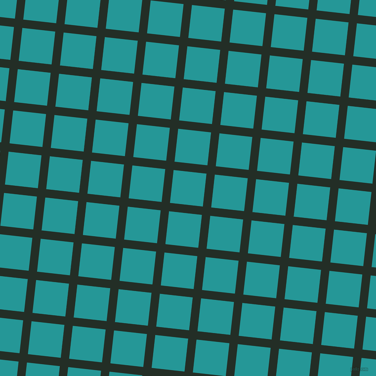84/174 degree angle diagonal checkered chequered lines, 17 pixel lines width, 67 pixel square size, Black Bean and Java plaid checkered seamless tileable