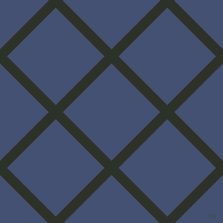 45/135 degree angle diagonal checkered chequered lines, 33 pixel lines width, 229 pixel square size, Black Forest and Astronaut plaid checkered seamless tileable
