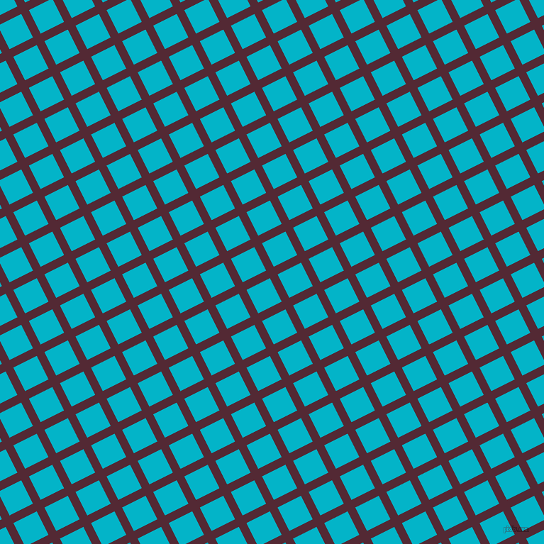 27/117 degree angle diagonal checkered chequered lines, 12 pixel lines width, 37 pixel square size, Black Rose and Iris Blue plaid checkered seamless tileable