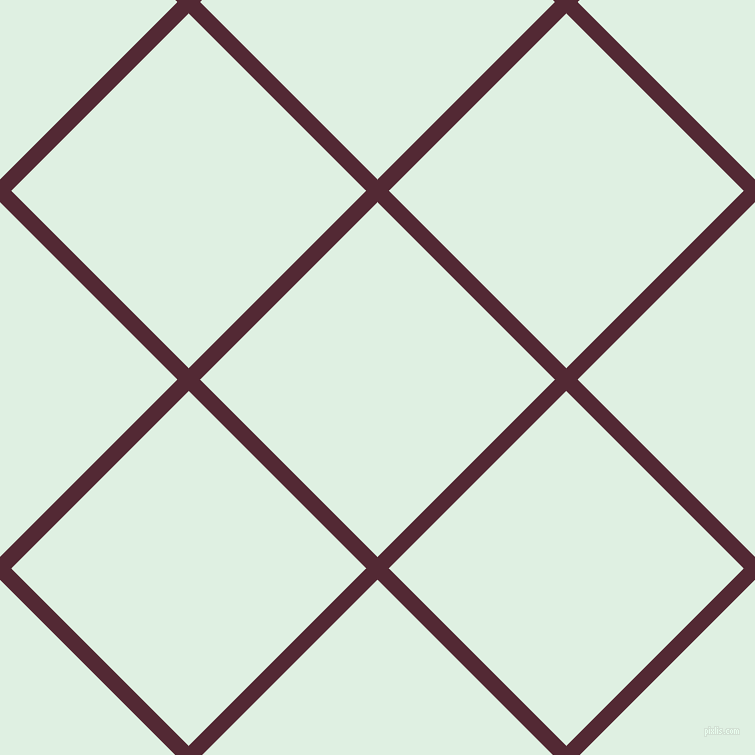 45/135 degree angle diagonal checkered chequered lines, 16 pixel line width, 251 pixel square size, Black Rose and Off Green plaid checkered seamless tileable
