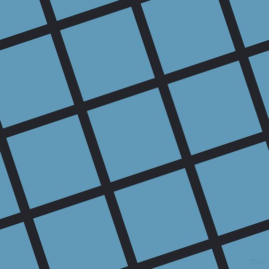 18/108 degree angle diagonal checkered chequered lines, 20 pixel lines width, 151 pixel square size, Black Russian and Shakespeare plaid checkered seamless tileable
