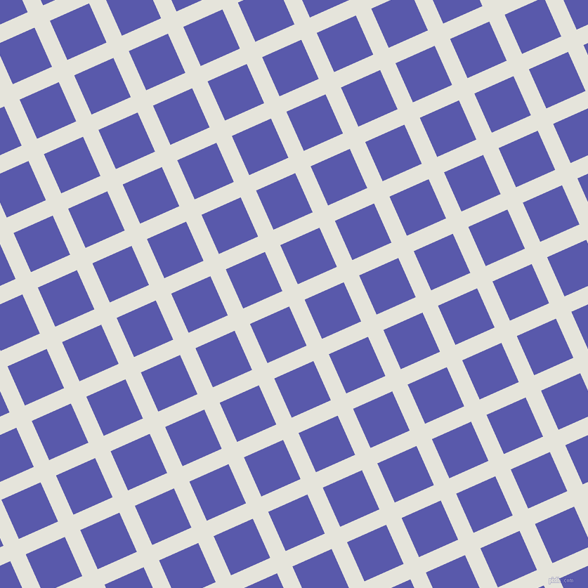 24/114 degree angle diagonal checkered chequered lines, 24 pixel lines width, 61 pixel square size, Black White and Rich Blue plaid checkered seamless tileable