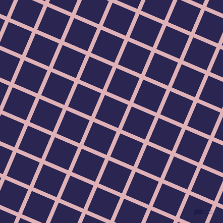67/157 degree angle diagonal checkered chequered lines, 8 pixel lines width, 50 pixel square size, Blossom and Paua plaid checkered seamless tileable