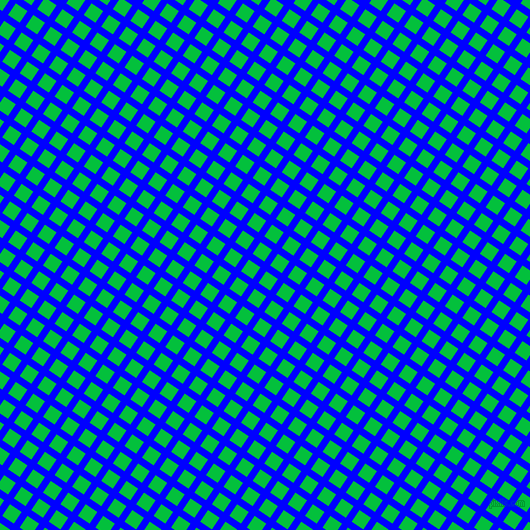 56/146 degree angle diagonal checkered chequered lines, 7 pixel line width, 14 pixel square size, Blue and Dark Pastel Green plaid checkered seamless tileable