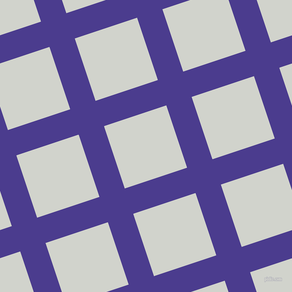 18/108 degree angle diagonal checkered chequered lines, 54 pixel lines width, 133 pixel square size, Blue Gem and Grey Nurse plaid checkered seamless tileable