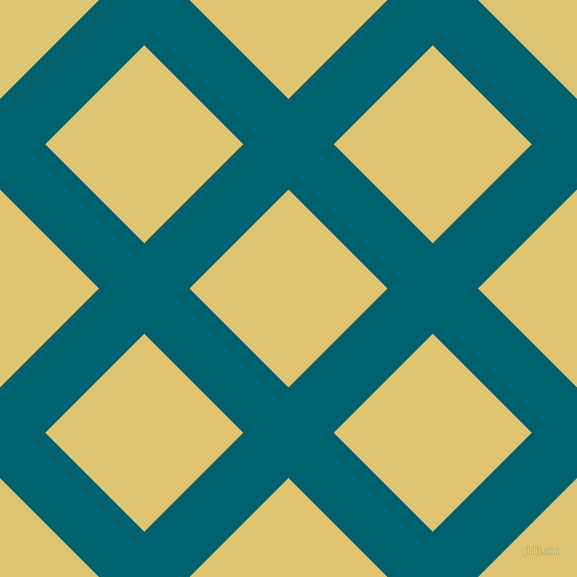 45/135 degree angle diagonal checkered chequered lines, 64 pixel line width, 140 pixel square size, Blue Lagoon and Chenin plaid checkered seamless tileable