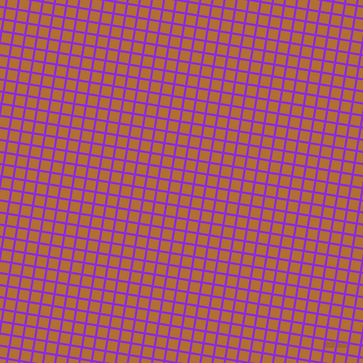 81/171 degree angle diagonal checkered chequered lines, 3 pixel line width, 14 pixel square size, Blue Violet and Reno Sand plaid checkered seamless tileable