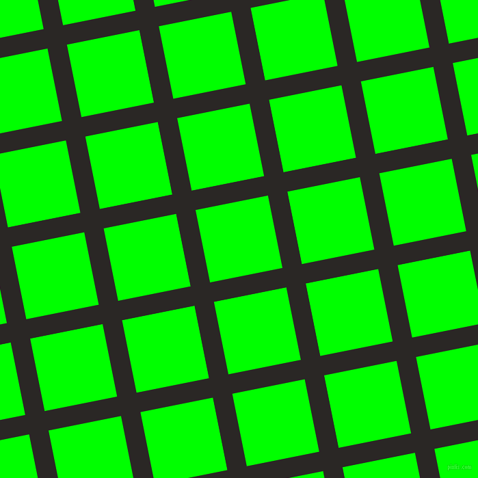 11/101 degree angle diagonal checkered chequered lines, 29 pixel lines width, 108 pixel square size, Bokara Grey and Lime plaid checkered seamless tileable