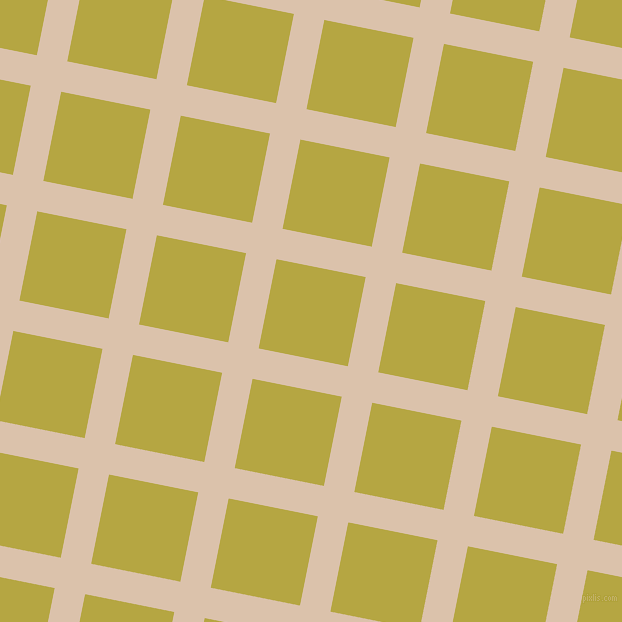79/169 degree angle diagonal checkered chequered lines, 31 pixel line width, 91 pixel square size, Bone and Brass plaid checkered seamless tileable
