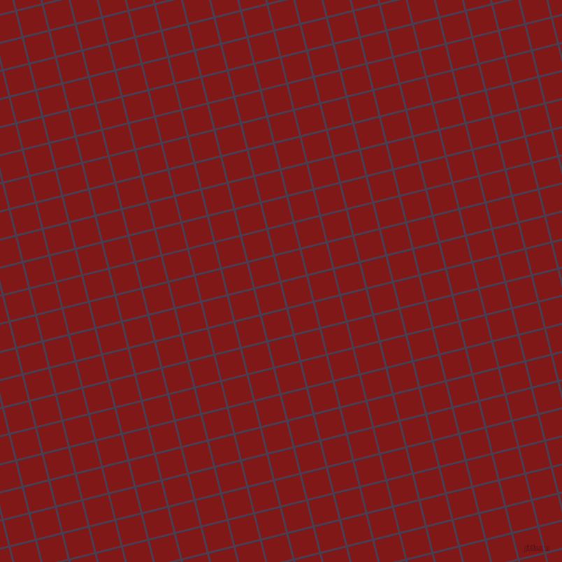 14/104 degree angle diagonal checkered chequered lines, 3 pixel lines width, 36 pixel square size, Bossanova and Falu Red plaid checkered seamless tileable